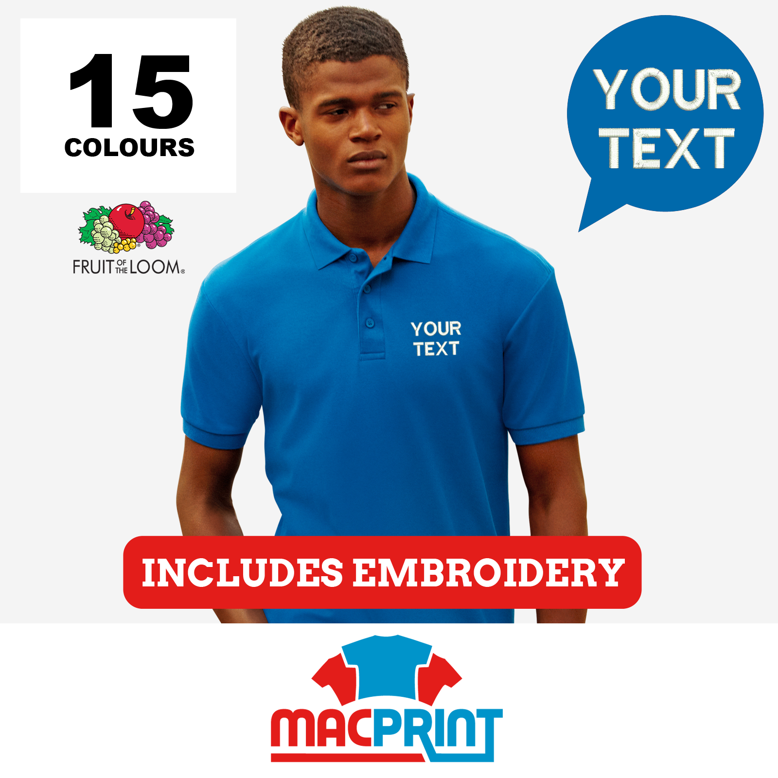Fruit of the Loom 65/35 Men's Polo